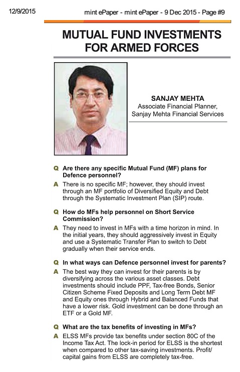SMFS - Mint Article - 9 December 2015
