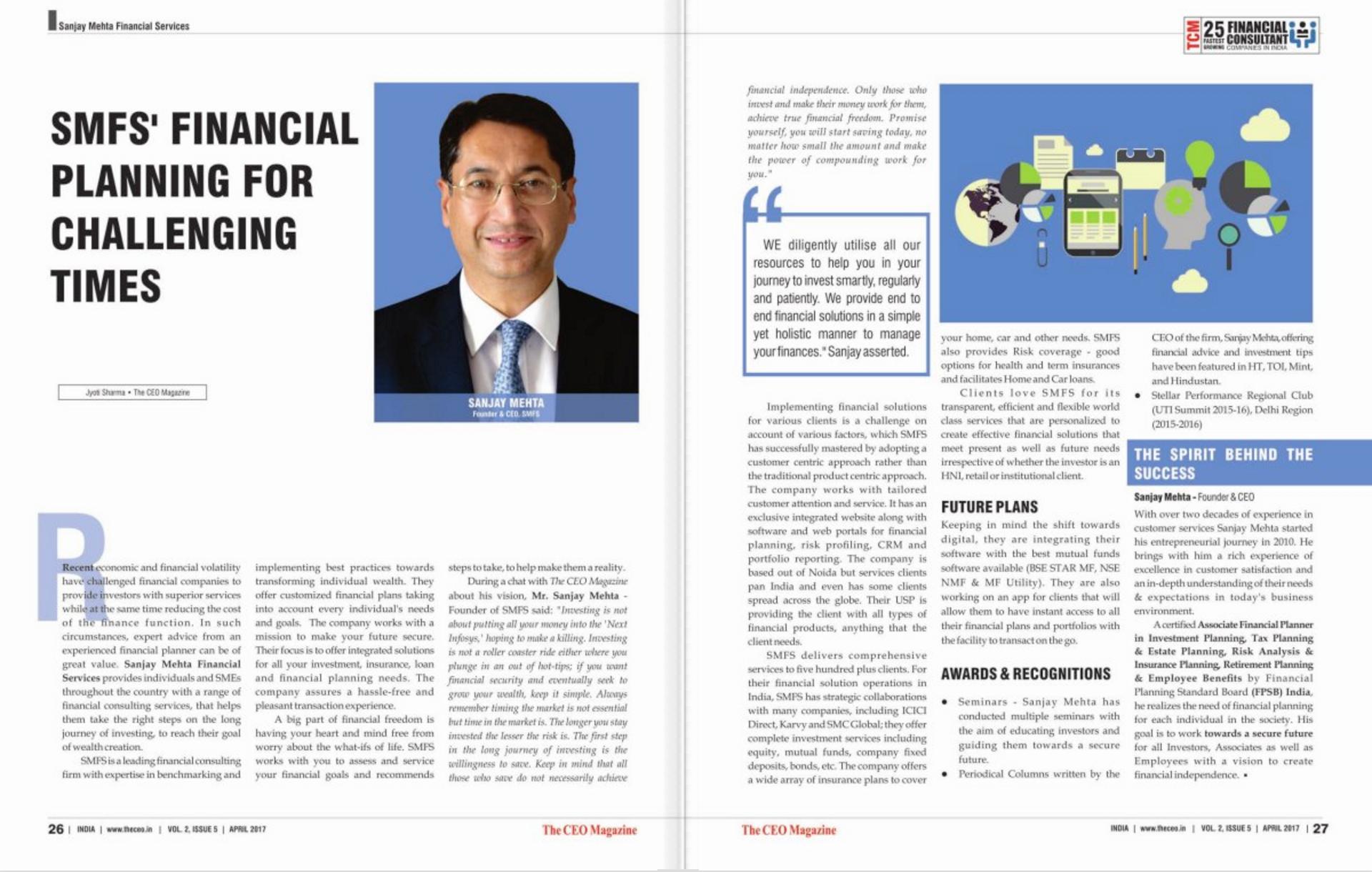 SMFS - CEO Magazine Feature - April 2017