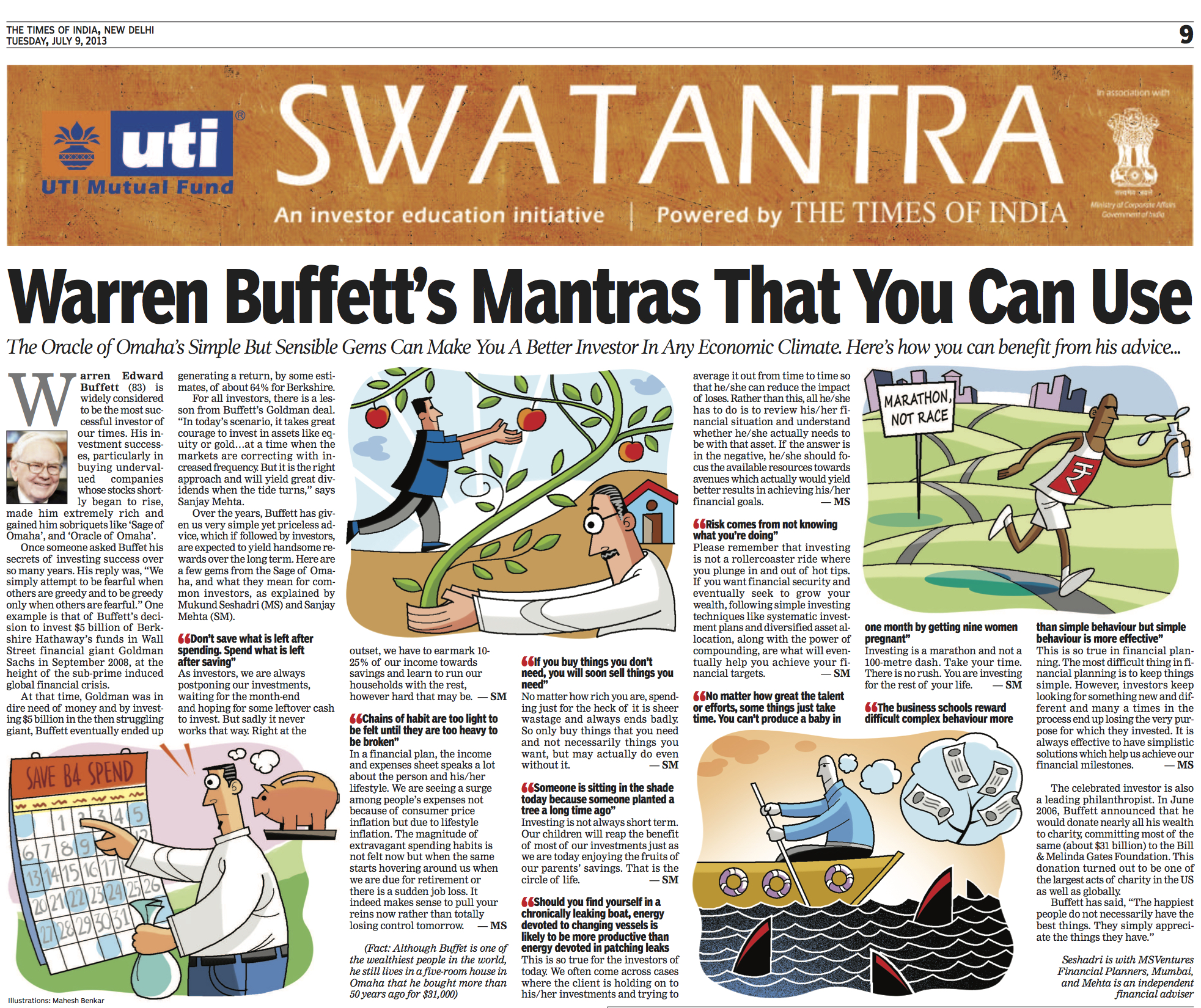 SMFS - TOI Article - 9 July, 2013