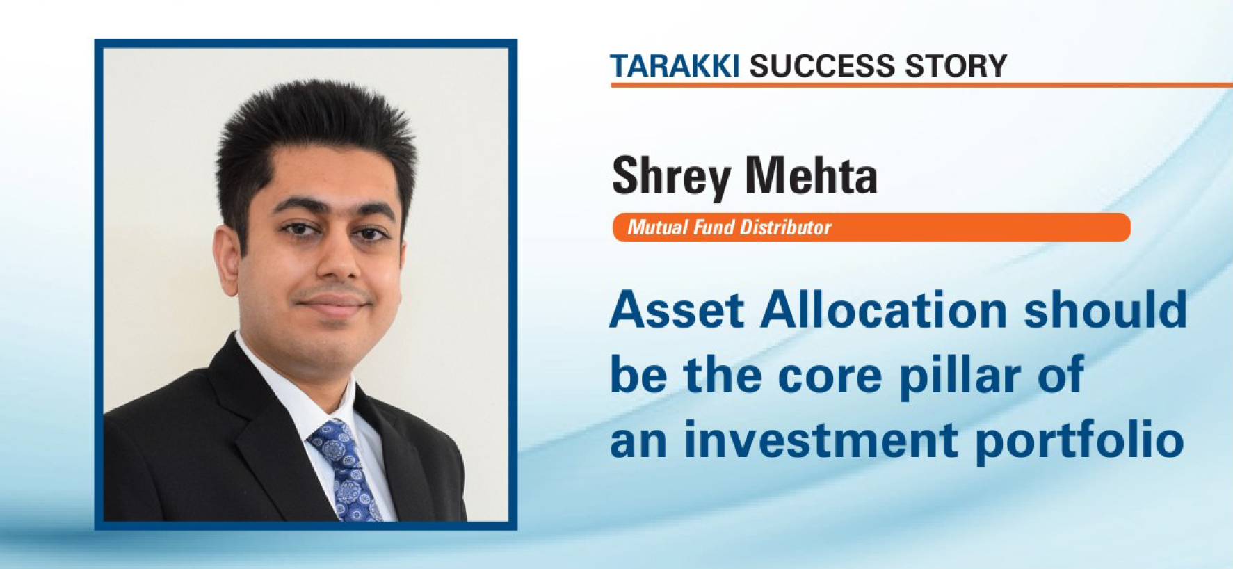 Shrey Mehta feature Image in ICICI Tarakki Times